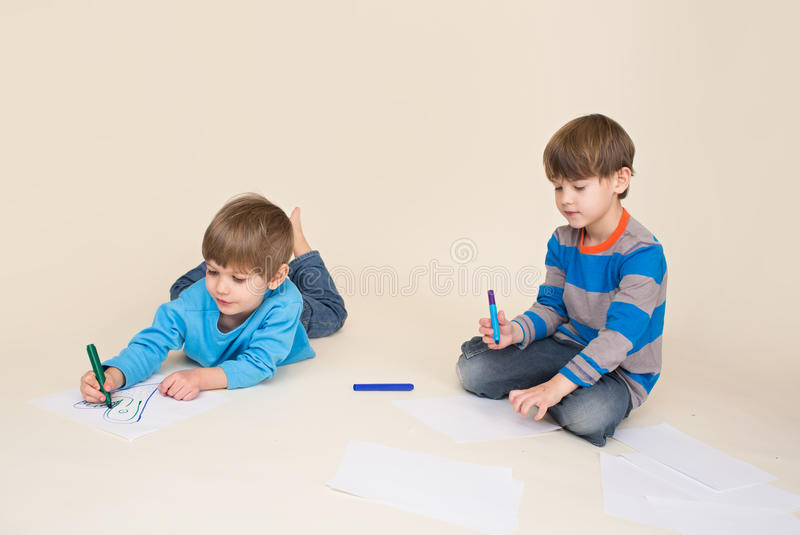 Kids Art, Drawing stock images