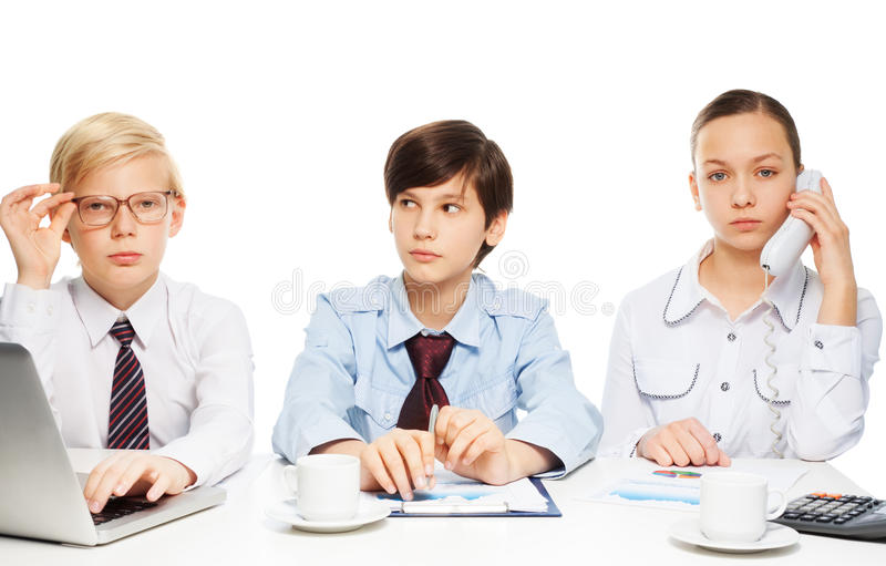 Download Kids as adults businessman stock photo. Image of partner - 28403676