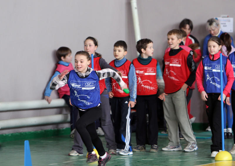 Kids Athletics competition royalty free stock photos