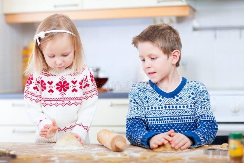 Kids Baking Cookies Royalty Free Stock Photos