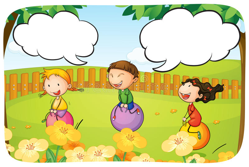 Download Kids And Ball Stock Vector Illustration Of Grass Cartoon