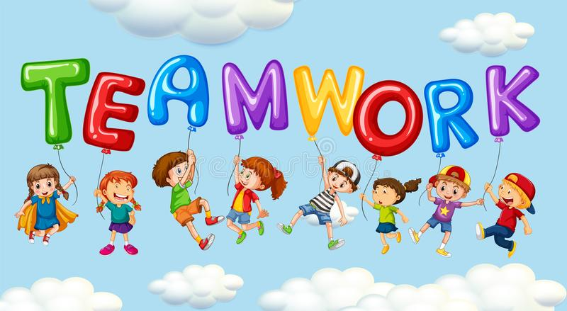 Kids Teamwork Stock Illustrations – 4,840 Kids Teamwork Stock ...