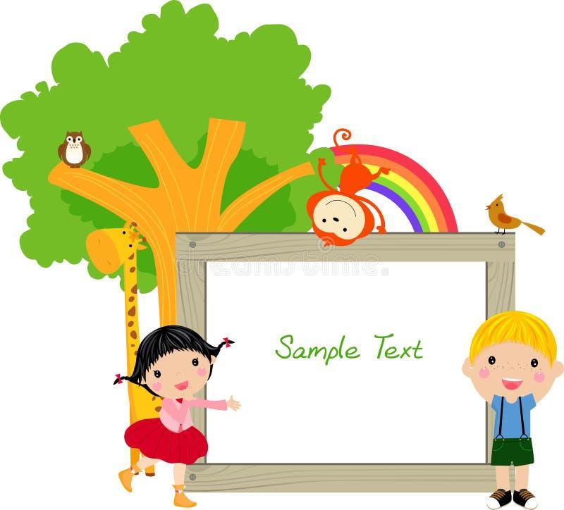 Download Kids and banner stock vector. Illustration of banner - 18570251