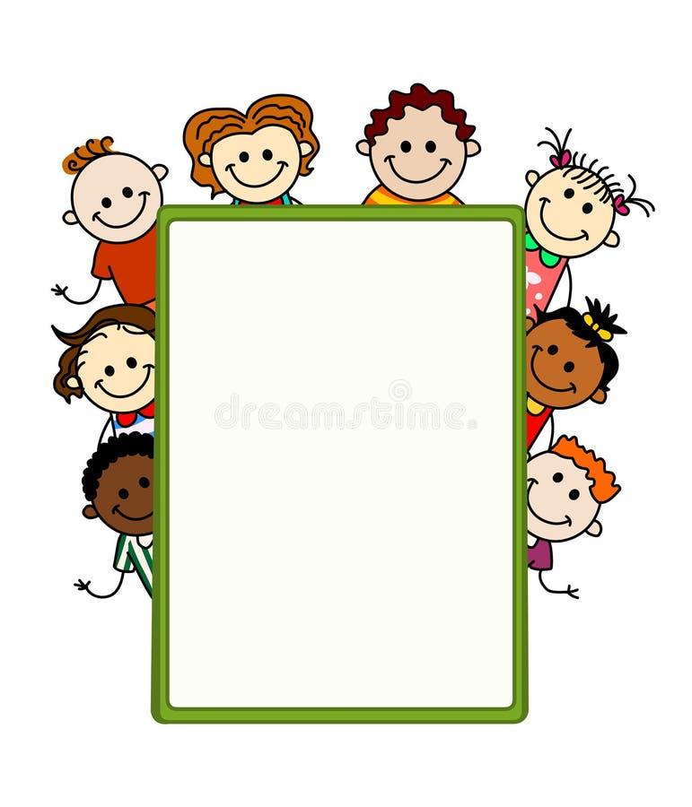 Kids banner royalty free illustration
