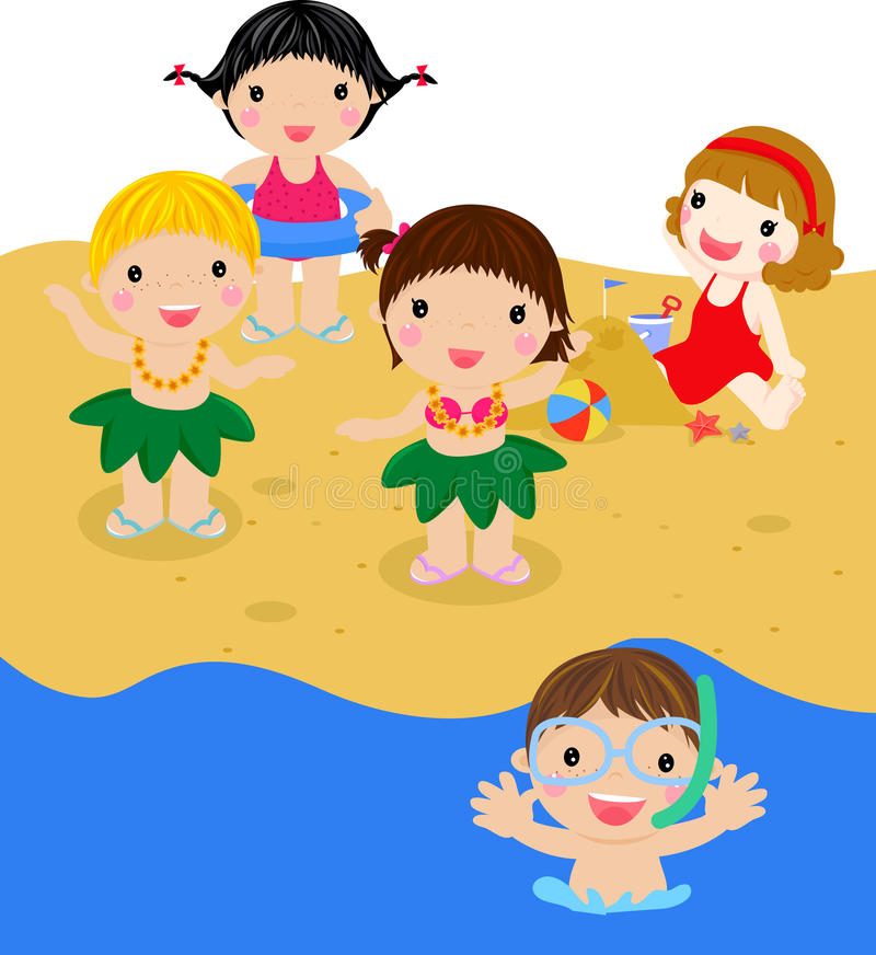Download Kids on beach stock vector. Image of dancer, bikini, holiday - 20791263