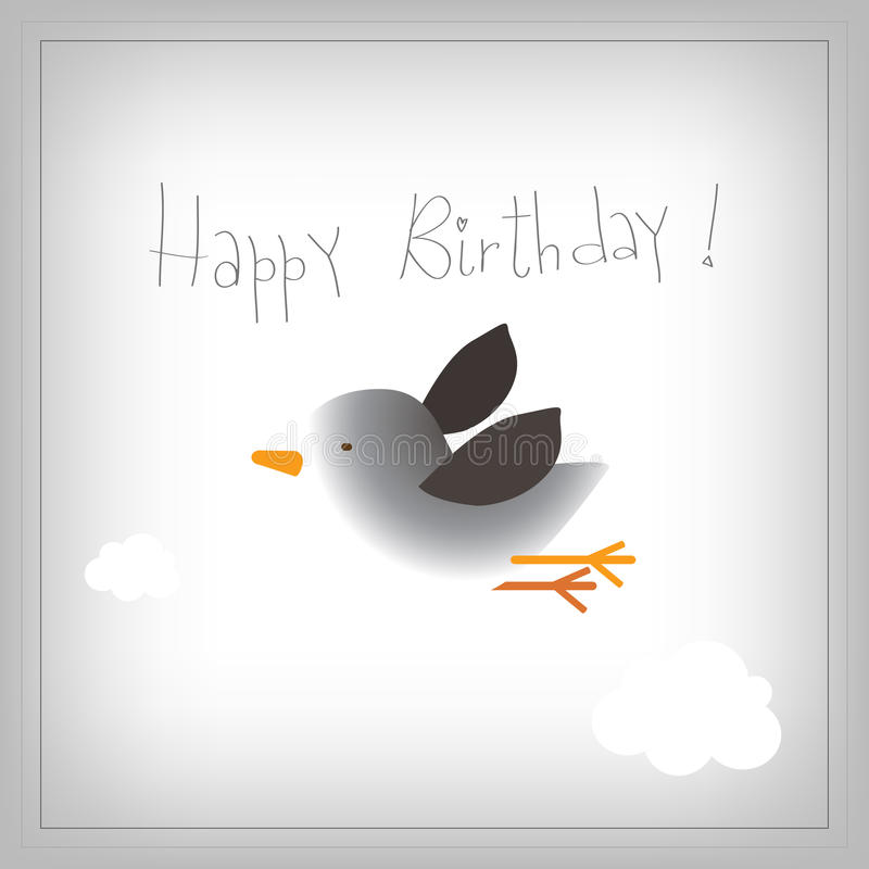 Kids Birthday card stock illustration