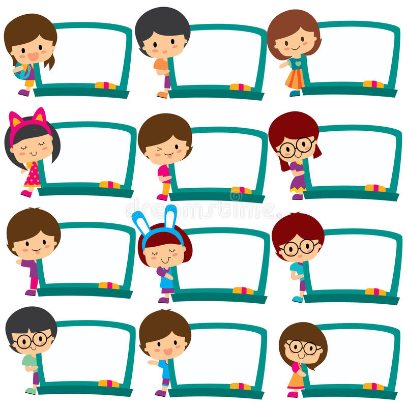 kids board frames clip art set stock vector illustration of human rh dreamstime com Red Clip Art Play Area role play area clipart