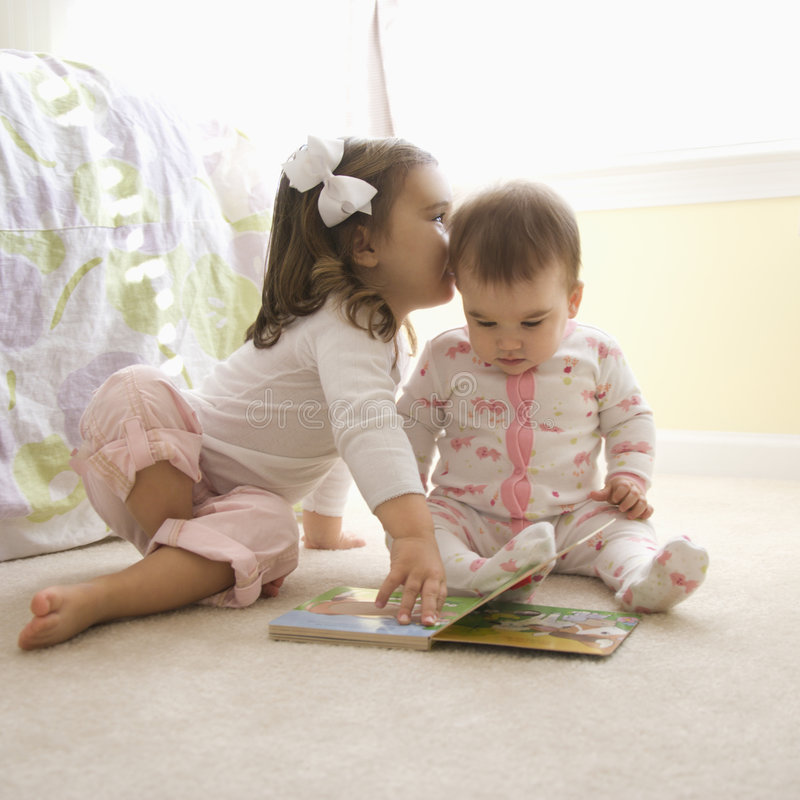 Kids With Book. Royalty Free Stock Images