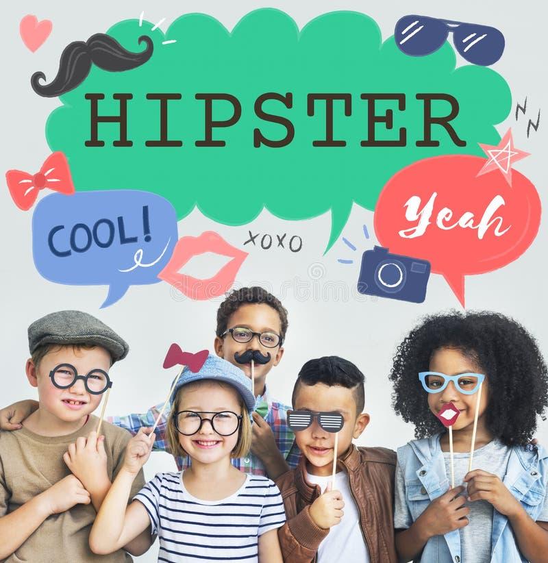 Kids Casual Joyful Independant Graphic Concept stock images