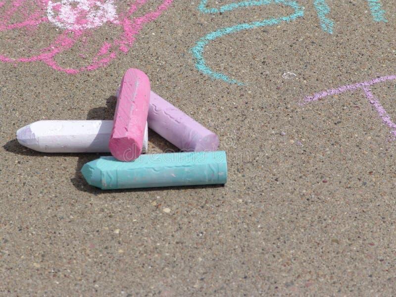 Kids chalk stock images