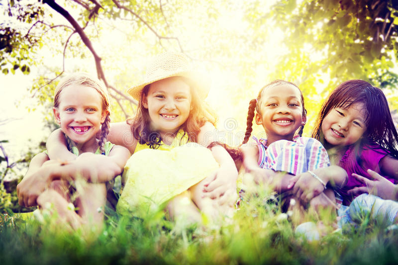 Kids Children Playing Happiness Concept stock photo