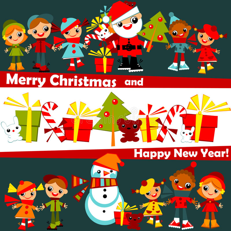 Kids Christmas background royalty free stock images