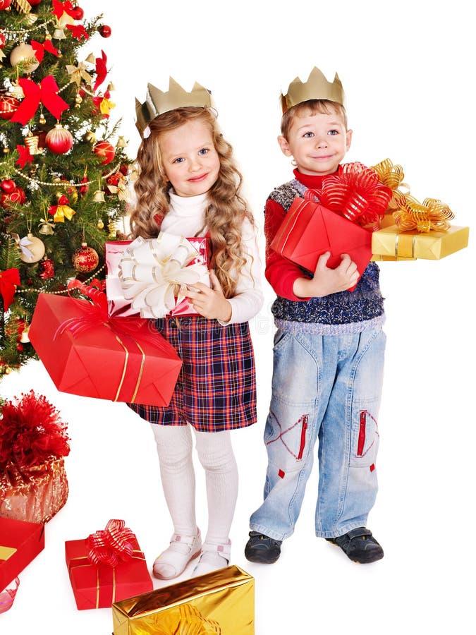 Download Kids With Christmas Gift Box. Stock Photo - Image: 27569110