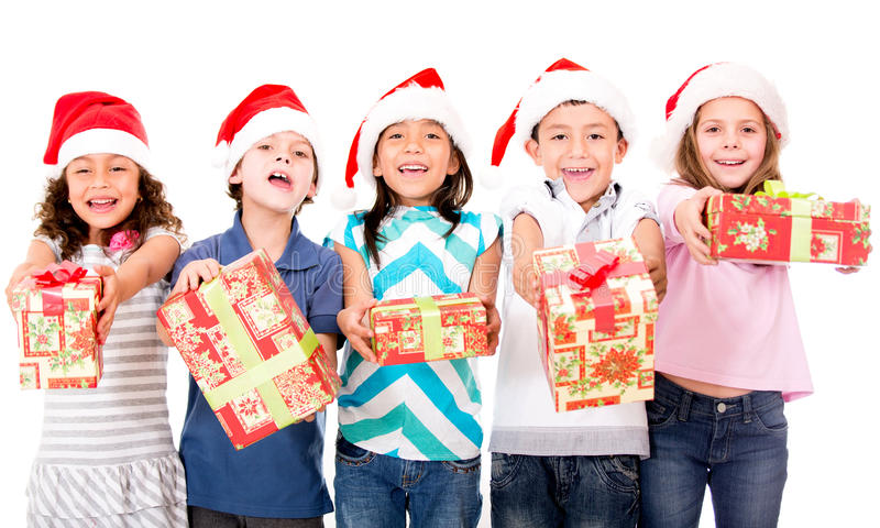 Download Kids With Christmas Presents Stock Photo - Image: 27806310