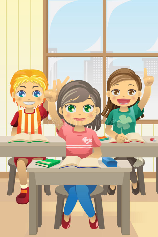Download Kids in classroom stock vector. Image of girls, female - 20644263