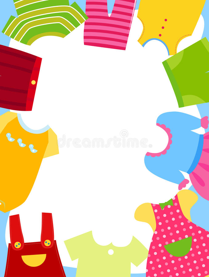 Kids clothes frame stock vector. Illustration of little - 27047762