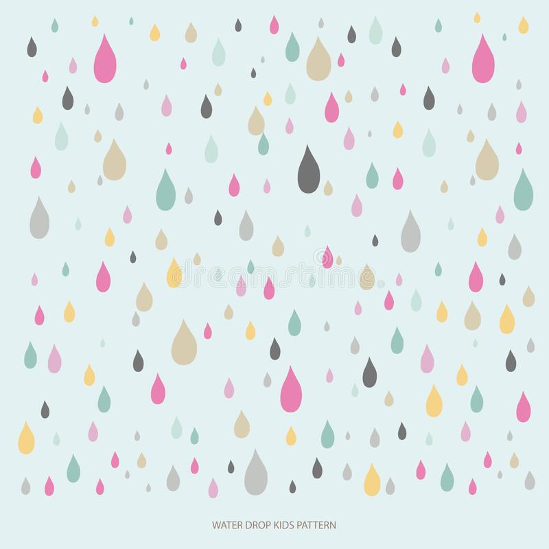 Water Drop Colorful Pattern vector illustration