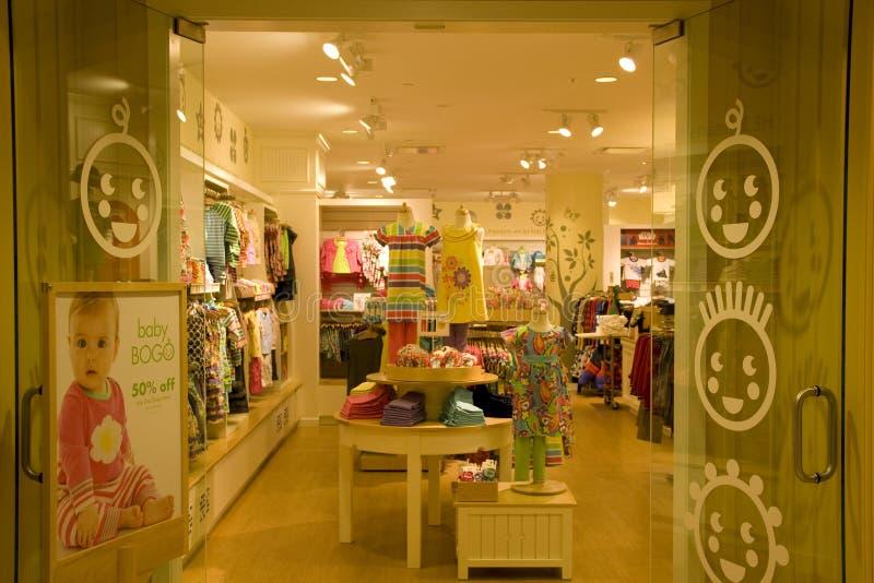 Kids clothing store royalty free stock image