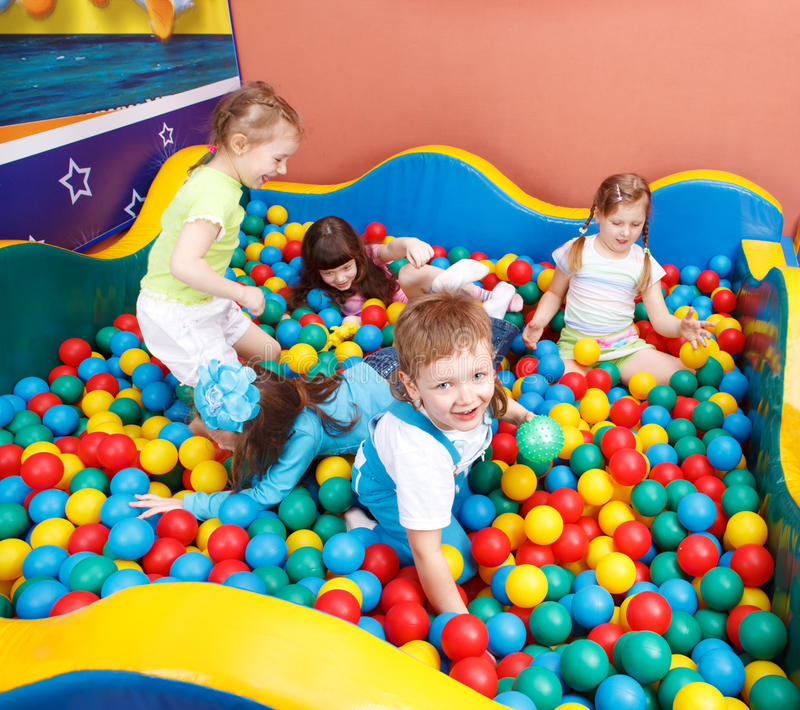 Download Kids in colorful balls stock photo. Image of laughing - 13987496