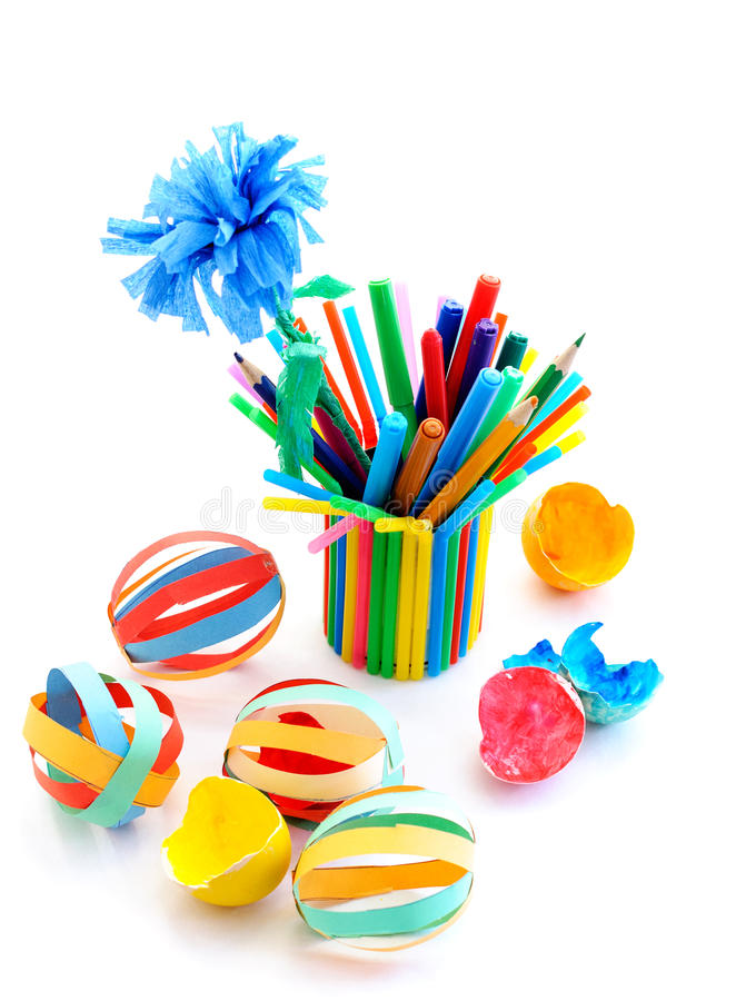 download kids crafts out of colored paper stock photo image 53676910 - Color Paper For Kids