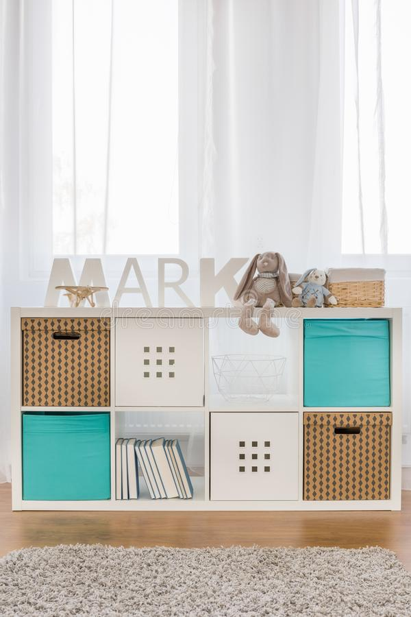 Kids cube storage stock images