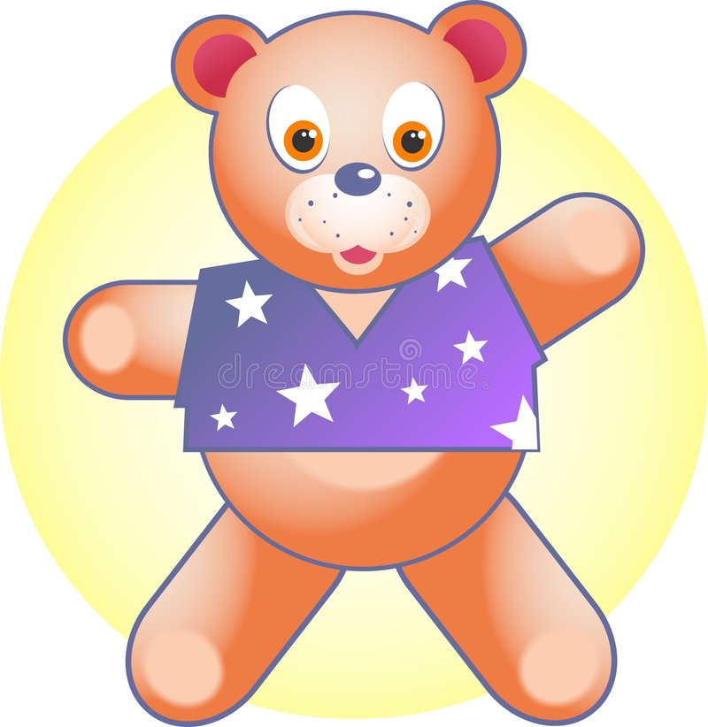 Kids cuddly toy vector illustration