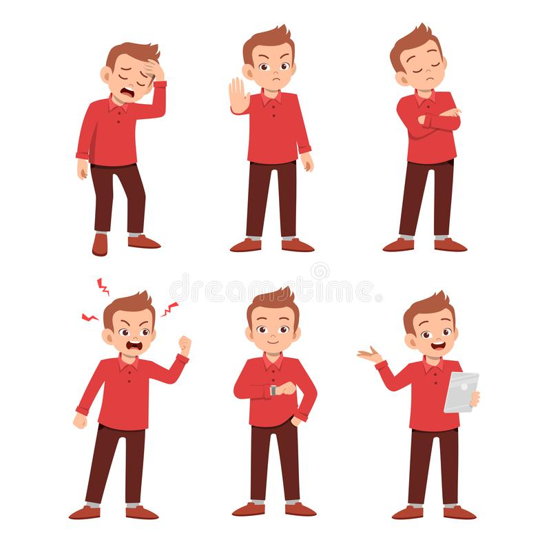 2019-09-23-kids-41. Cute teen gesture many expression set bundle, adult, angry, avatar, background, body, cartoon, character, clipart, comic, emoji, emoticon stock illustration