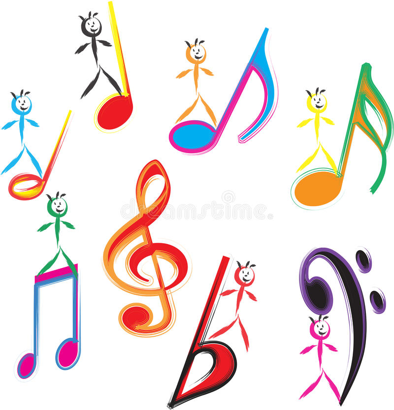 Download Kids Dancing stock illustration. Image of colour, community - 15453931