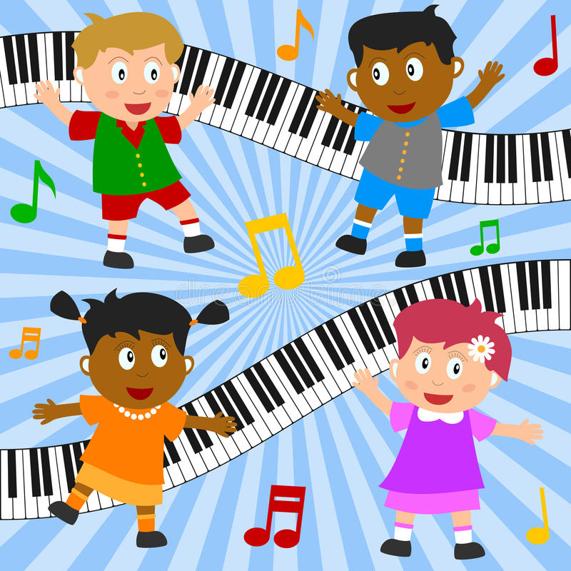 Download Kids Dancing Composition stock vector. Image of melody - 18424861