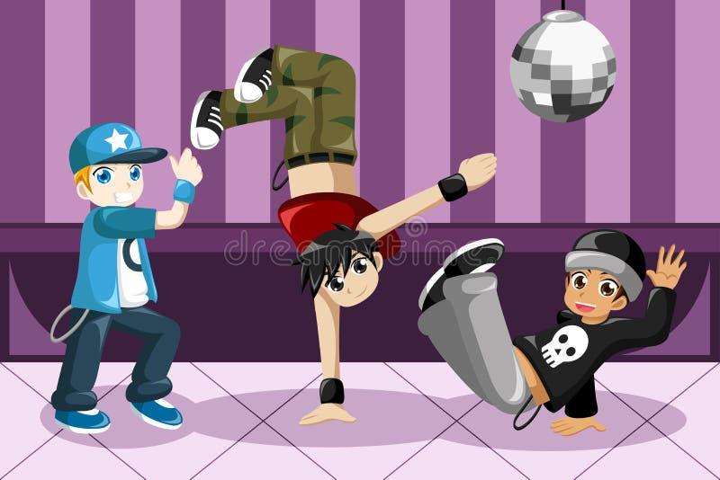 Kids dancing hip hop. A vector illustration of kids dancing hip hop royalty free illustration