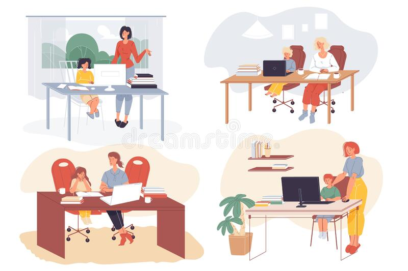 Home Learning Kids Stock Illustrations 1 741 Home Learning Kids Stock Illustrations Vectors Clipart Dreamstime