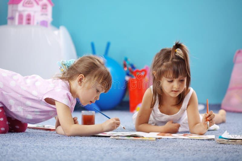 Kids drawing royalty free stock photos