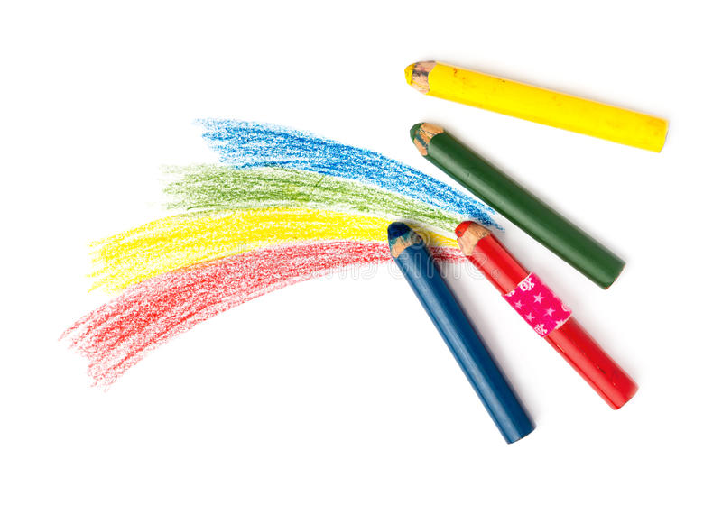 Kids Drawing and Pencils stock photo. Image of picture - 53657220