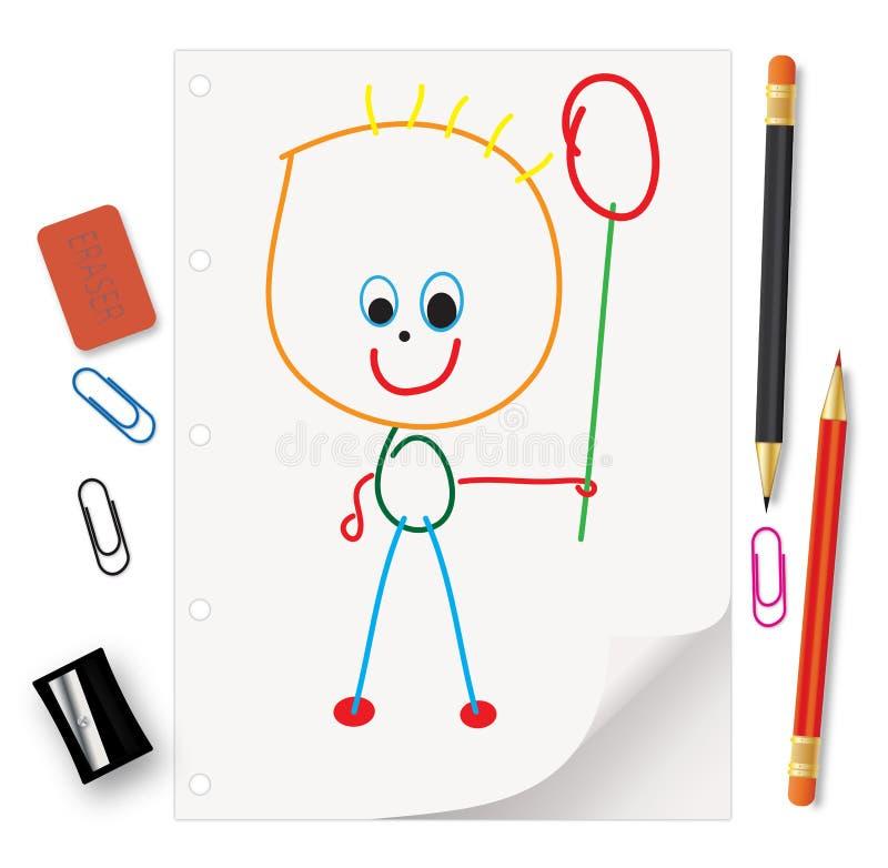 Kids  Drawings Royalty Free Stock Photos