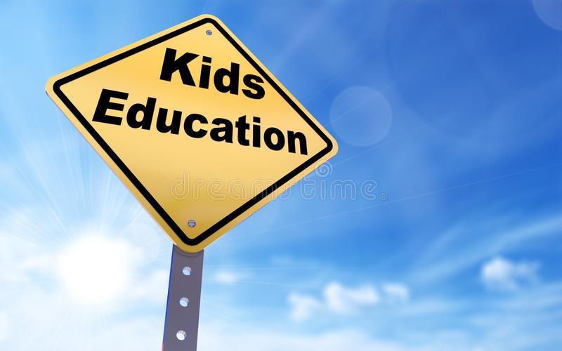 Kids education sign vector illustration