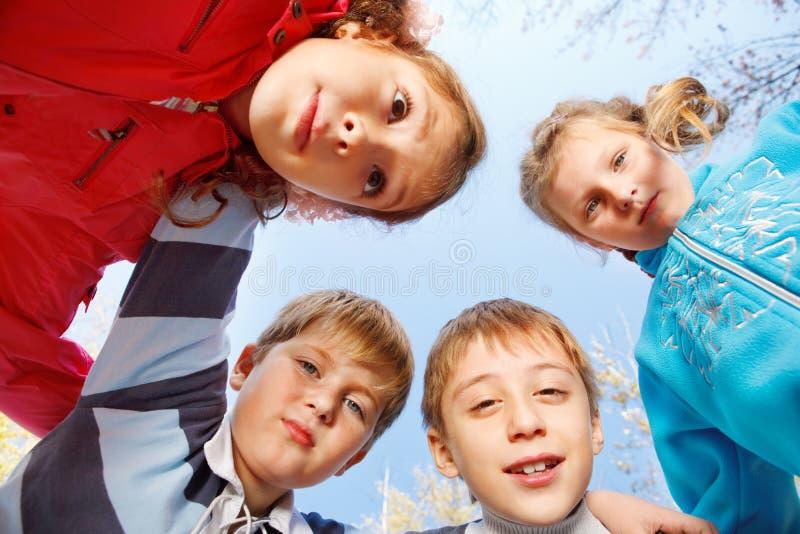 Kids Embracing Stock Image