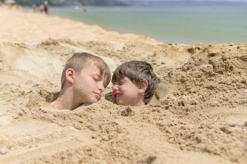 Kids Enjoying Beach Vacation stock photo