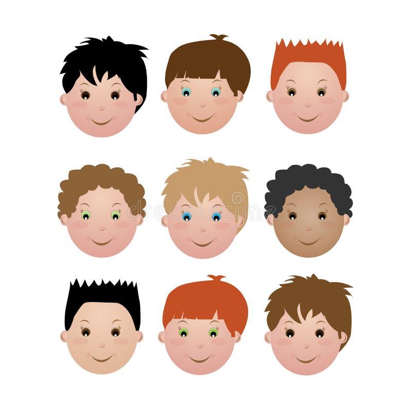Kids face - boy vector illustration
