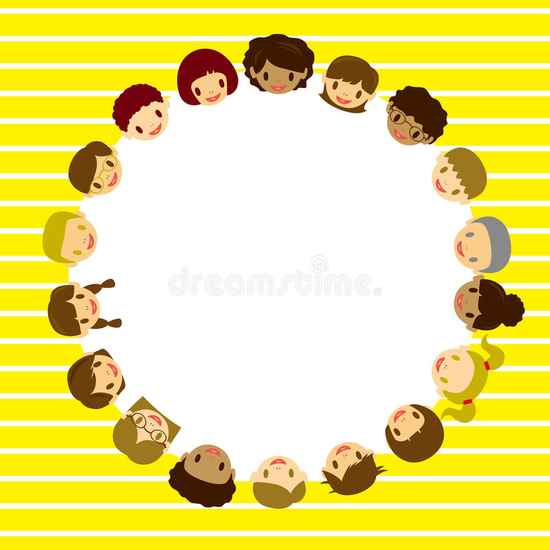 Download Kids face frame stock vector. Image of friendship, holiday - 16257913