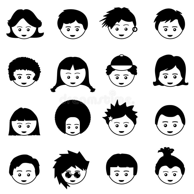 Download Kids faces stock vector. Illustration of object, youth - 19353788