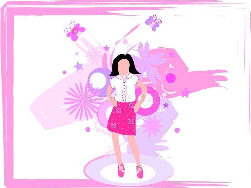 Kids fashion show royalty free illustration