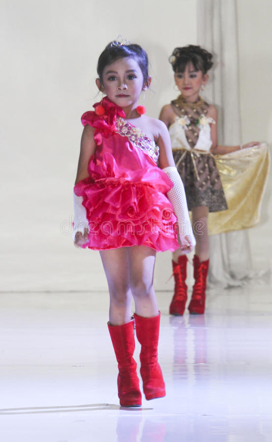Kids fashion show royalty free stock image