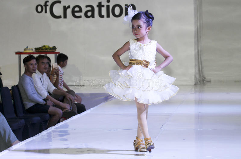 Kids fashion show royalty free stock photo