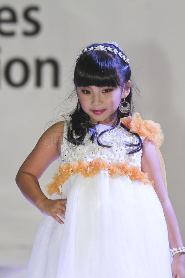 Kids fashion show stock images