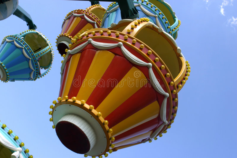 Kids Ferris Wheel. Colorful detail of a kids ferris wheel in phantasialand, Germany stock photos