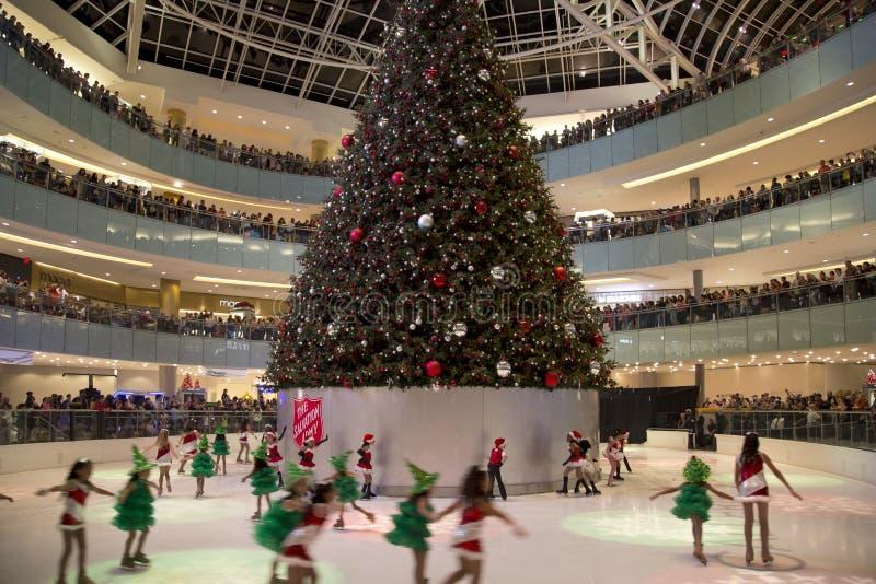 kids figure skating performance on galleria dallas editorial image
