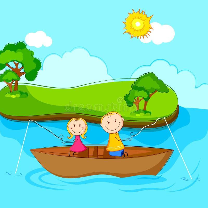Kids Fishing Stock Image
