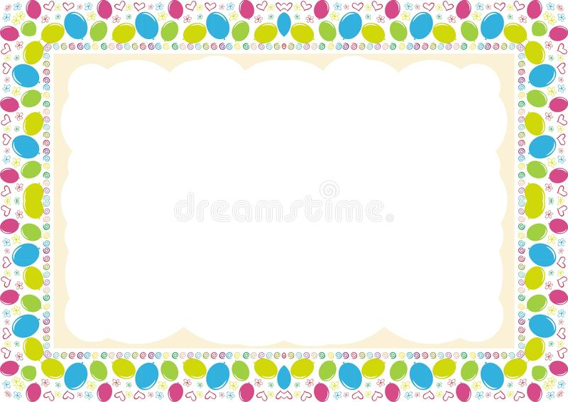 Kids Frame - Border With Made From Arrangement Of Balloons Stock ...