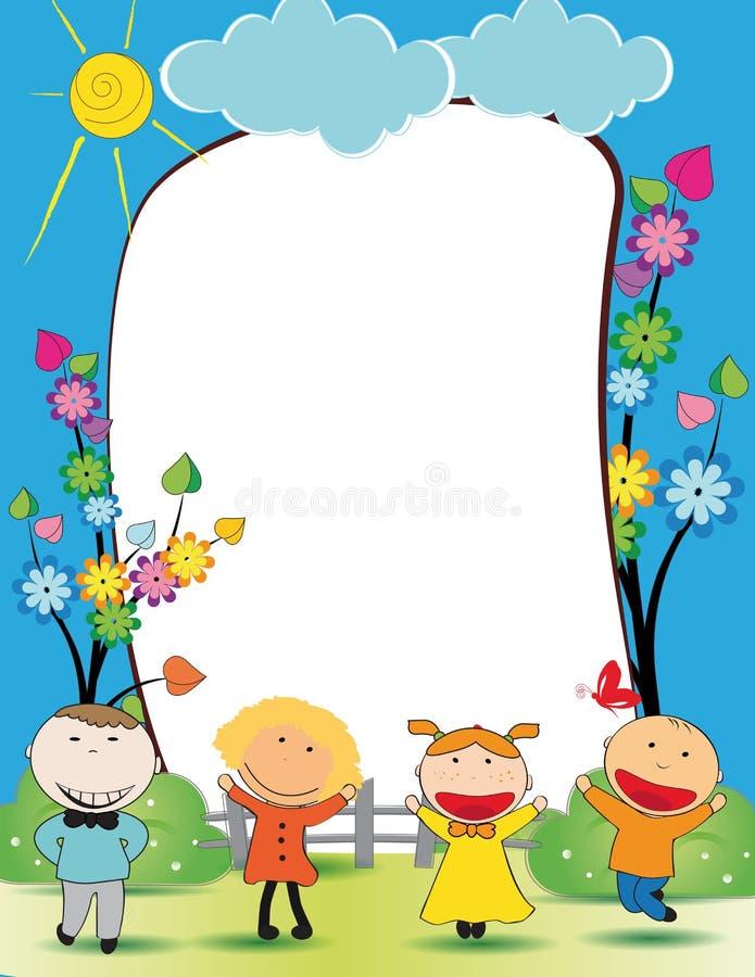 Kids frame stock vector. Image of contour, holidays, frame ...