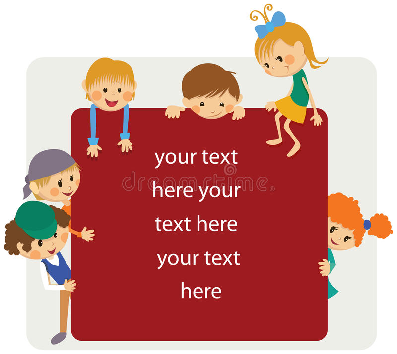 Kids frame notice. Kids banner with the notice royalty free illustration